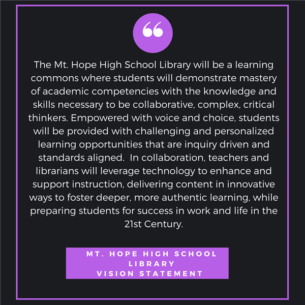 Mt Hope Library Vision Statement