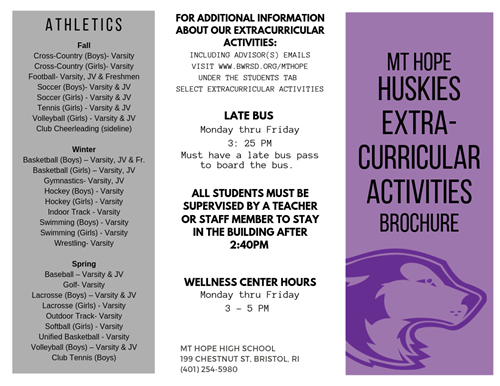 Huskies Extra Curricular Activities