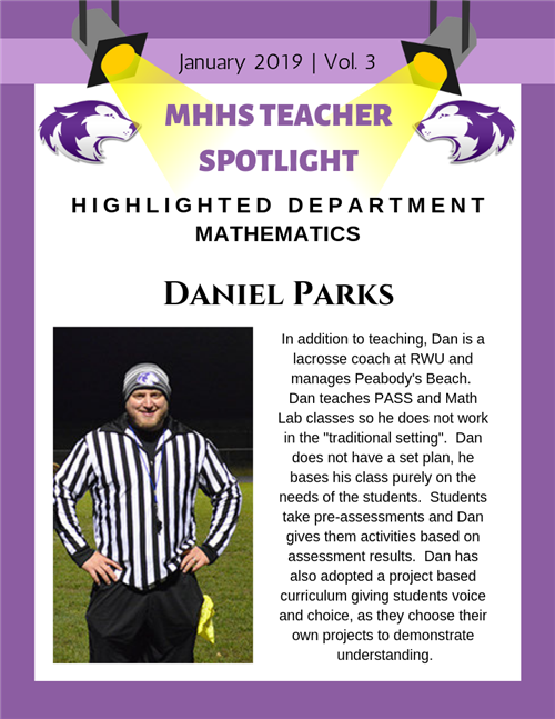 Dan Parks January Teacher Spotlight
