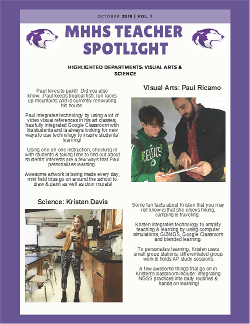 MHHS Teacher Spotlight